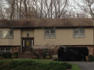 dirty roof, roof cleaning, black streaks, mold, mildew, fungus, westchester, armonk, chappaqua
