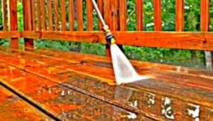 deck pressure washed, decking, wood deck