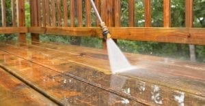 Patio Deck cleaned by Westchester Powerwashing