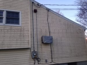 Chappaqau, roof cleaning, house and siding pressure washing BEFORE