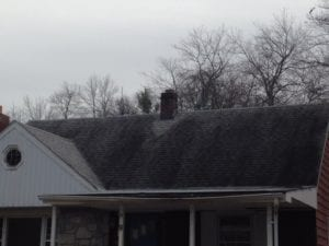 rye house, new york, dirty roof before cleaning, westchester power washing, roof washing, black streaks , black marks, lichen, moss, mold , mildew